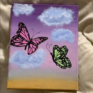 Aesthetically pleasing butterfly painting